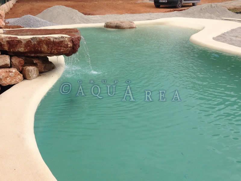 Cascada piscina de arena grupo aquarea - Piscina arena ...